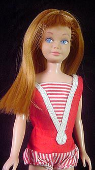 Skipper was my first Barbie doll.  She was the little sister of the original Barbie.