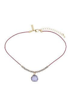 Facet and Stone Drop Choker