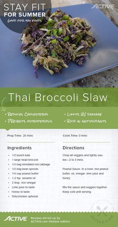 Stay Fit for Summer: Thai Broccoli Slaw | ACTIVE