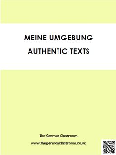 Booklet of authentic texts with reading comprehension questions on the topic of home and local area. Good for GCSE German!