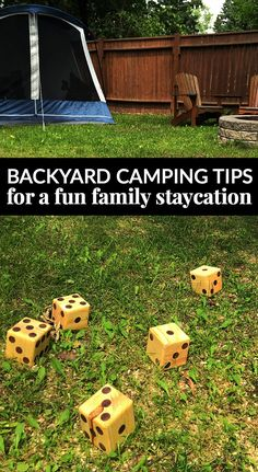 Backyard camping tips for a fun family staycation energizeyoursummer snow obstacle course winter fun that will totally tire your kids out