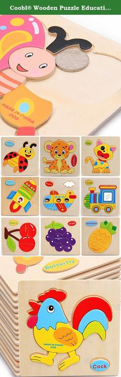 Coobl® Wooden Puzzle Educational Developmental Baby Kids Training Toy Animal combination 16pcs. Product Description: •Great pieces and colorful, fun designs make these the perfect gift for any child! More than just fun, they also help in the development of important logic and motor skills. This quality wood construction puzzle encourages parent and child interaction and offers a great learning tool. Recommended for age 1-3 •Size:15cmx15cm •Great educational tool for quality time for you…