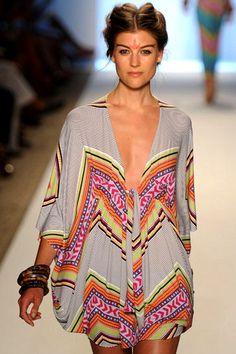 Mara Hoffman Short poncho dress in tiki white