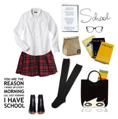 """Too Cool For School"" by youaresofashion ❤ liked on Polyvore featuring Dixon Ticonderoga, H&M, Aéropostale, 3.1 Phillip Lim, Lulu Guinness, Victoria Beckham and school"