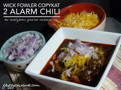 Chili Power!! Wick Fowler's 2 Alarm Chili Copykat Recipe from Fluffy Chix Cook