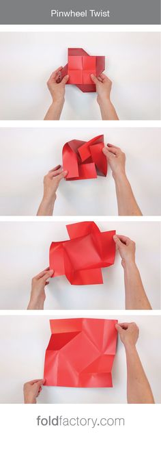 The fun, twisting movement locks the cover closed, however opening a twist fold is fluid and requires very little effort. This creative, pinwheel-shaped format is great as-is, and even better with square or fancy-shaped insert cards placed inside. Great for: #special events #promotions #invitations