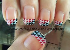 "French tip design with Gals ""Princes Set""  Abnorm Nail Behavior"