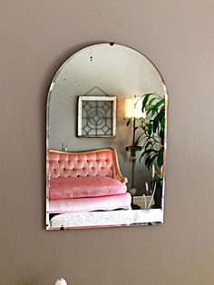 wall mirror frameless mirror art deco mirror by FlickerAndSway
