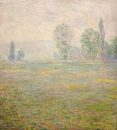 """Trademark Art """"Meadows in Giverny, by Claude Monet Painting Print on Canvas Size: Claude Monet, Post Impressionism, Impressionist Paintings, Monet Paintings, Landscape Paintings, Landscapes, Framed Art Prints, Painting Prints, Framed Wall"""