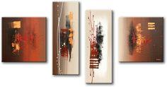 Schilderij Abstract Composition II, vierluik van Buttner - Kunstvoorjou.nl