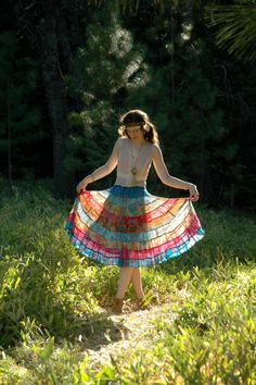 Indian Cotton Skirt... Hippie Skirt... Festival by AstralBoutique, $38.00