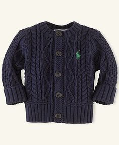 Ralph Lauren Baby Sweater, Baby Girls Cabled Cardigan - Kids Baby Girl (0-24 months) - Macy's $19.75