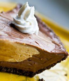 Vegan chocolate PB cream pie! Yum!!!