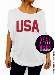 USA - Fourth of July - White Slouchy Tee #tank #top #summer #tee #party #holidays #4thofjuly #fourthofjuly #memorialday #laborday #picnic #cookout #merica #bbq #family #friendsa #star #starspangled #hammered #drunk #party #fireworks #beach #summer #trip #vacation #unisex #adults #men #women #crew #neck #tshirt #top #summer #shortsleeves #sale #etsy #shop