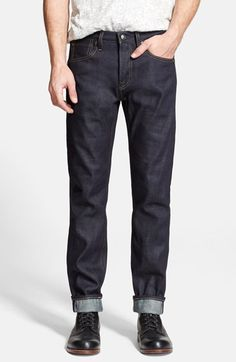 Levi's® Made & Crafted™ 'Tack' Slim Fit Jeans (Selvedge Rigid) available at #Nordstrom