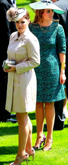 ilovethemonarchy:  Royal Ascot 2014, Day 1, June 17, 2014-Princesses Eugenie and Beatrice