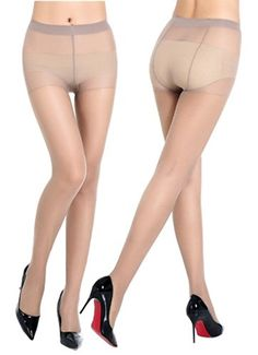 Amazon.com: QQsweet Women's Socks Control Top 20 Den Silk Stockings Tight Panty…