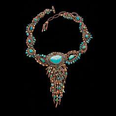 Necklace   Wendy Seaward.  'Intuitive Beadweaving'