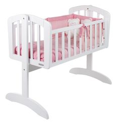 Obaby Sophie #Swinging #Crib White available online at http://www.babycity.co.uk/