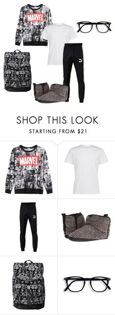 """A.Ham 0.1"" by raiseaglasstofreedom ❤ liked on Polyvore featuring WithChic, Puma, Bedroom Athletics, Disney, men's fashion and menswear"