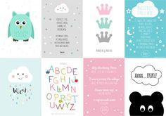 Darmowe plakaty do druku Girl Room, Baby Room, Kids And Parenting, Free Printables, Little Girls, Merry, Children, Cards