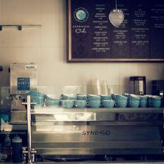 vintage coffee retro blue
