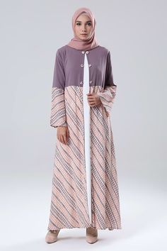 Blazer Dress Alikra MK | Koleksi Long Dress Muslimah Blazer Dress Alikra MK Dari Qonita Batik | HIJUP