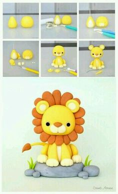 Fondant Lion Tutorial - this can be a cake or cupcake topper, depending on the size.Lion Tutorial by Crumb Avenue - For all your cake decorating supplies please vi. More info could be found at the image url. Lion Tutorial by Crumb Avenue - For all your ca Fondant Cupcakes, Fondant Cake Toppers, Fondant Baby, Cupcake Toppers, Baking Cupcakes, Cake Decorating Supplies, Cake Decorating Techniques, Decorating Ideas, Cake Decorating Tutorials