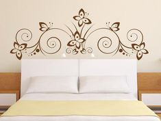 Wall decal BUTTERFLY bed DECORATIONS vinyl decal for living room, bedroom, kitchen,wall stickers,quality vinyl stickers Creative Wall Painting, 3d Wall Painting, Mural Wall Art, Big Ben Clock, Ganesha Tattoo, Butterfly Decorations, Room Paint, Wall Design, Wall Stickers