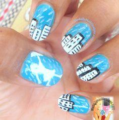 Rainy season nail art♥
