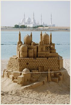 Sheikh zayed mosque sand castle | Explore the incredible huN… | Flickr - Photo Sharing!