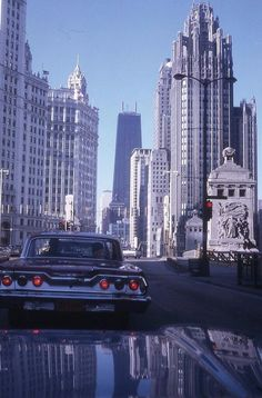 Chicago, 1969. Hop on an Indian Trails bus for a charter trip to the windy city! http://indiantrails.com/charters