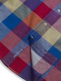 e44e36ee2b8 Ben Sherman. Laundered Buffalo Gingham Check Shirt Gingham Check