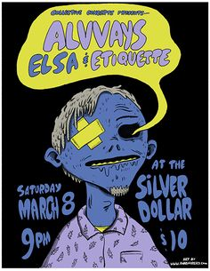 GigPosters.com - Elsa - Alvvays - Etiquette - Twist tagged: dream pop, indie pop, lo-fi