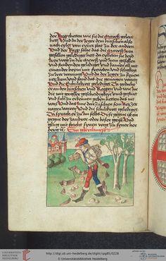 Cod. Pal. germ. 85: Antonius von Pforr: Buch der Beispiele (Schwaben, um 1480/1490), Fol 110v