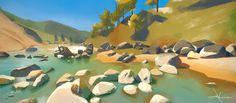 ArtStation - East Khasi Hills (Virtual Plein Air), Dragos Matkovski