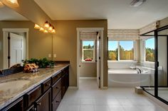 Wonderfully lit and spacious bathroom