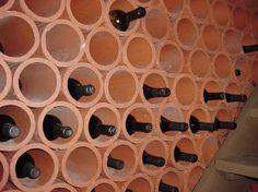 brick stack wine rack - Google Search