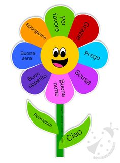 The flower of kind words- Il fiore delle parole gentili The flower of kind words - Apple Classroom, Preschool Classroom Decor, Teaching Activities, Preschool Activities, Art Education Projects, Kids Education, Emotions Preschool, Learning Italian, Feelings And Emotions