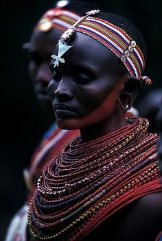 Portrait of Samburu woman. African Tribes, African Women, We Are The World, People Around The World, African Beauty, African Fashion, Black Is Beautiful, Beautiful People, Art Afro