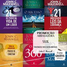 Livros de um dos maiores especialistas do mundo em Liderança, John C. Maxwell - 55%