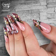 Construcción con Xtreme Fusion Acrygel 💅 www. Crystal Nails, Crystals, Beauty, Crystal, Beauty Illustration, Crystals Minerals