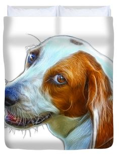 "Beagle dog Art- 6896 -WB Queen (88"" x 88"") Duvet Cover"