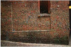 Odd Seattle. The gum wall has an ugly/cool thing going on; but it is truly repulsive in real life.