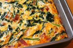 Red Russian Kale and Red Onion Savory Breakfast Squares Recipe. One of my favorite new breakfasts. I used regular onion instead of red onion. Clean Breakfast, Savory Breakfast, Breakfast Dishes, Breakfast Recipes, Breakfast Ideas, Breakfast Casserole, Nutritious Breakfast, Dinner Dishes, Brunch Ideas