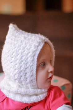 47d4274a745 Adorable baby hat with neck warmer cowl by NanasKnotsofLove Neck Warmer