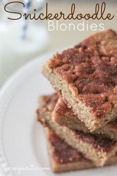 Snickerdoodle Blondies at https://therecipecritic.com  These are such an amazing treat!  You probably have all the ingredients to whip up some right now!