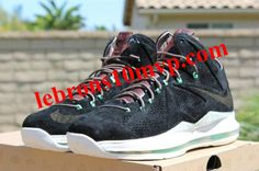 fdebf03603e Black Suede LeBron X EXT Black Black Dark Field Brown Tourmaline 607078 001