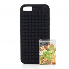 Silikonový obal UANYI Pixel - iPhone 4/4S, černý