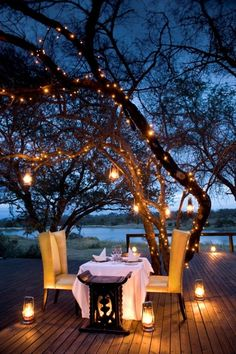 romantic table outside ideas of decoration for a dinner under the stars
